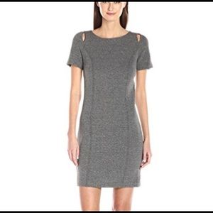 Kensie basket weave shift dress grey XS NWT